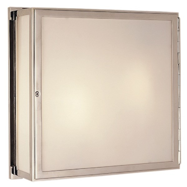 Thomas O'Brien Mercer White Glass Square Box Light