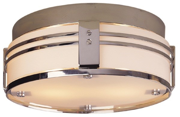 Flush Mount with with White Glass