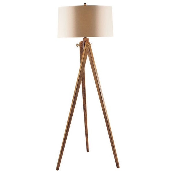 Floor Lamp in French Wax with Natural Paper