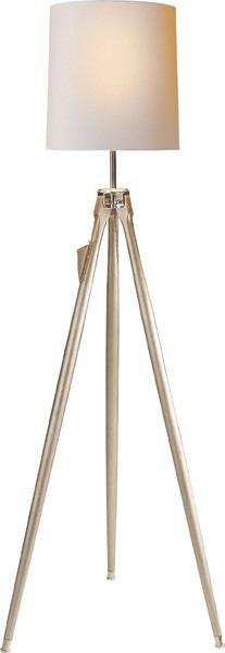 Surveyor, Surveyor Floor Lamp in Ebony with Natural Paper Sh