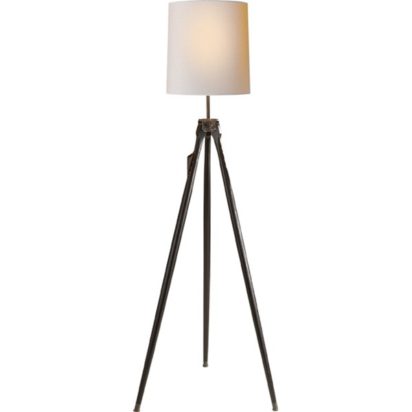 Floor Lamp in Ebony with Natural Paper Shade