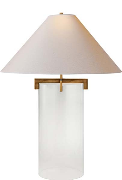 Brooks, Table Lamp in Crystal with Natural Paper Shade