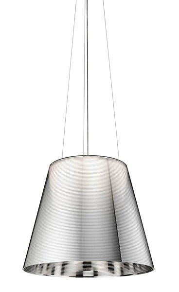 Venezia  S3 Large Pendant with Steel Cable Suspension & Drum style Shade
