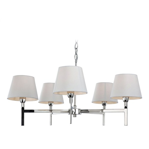 Polished Stainless Steel 5 Light Fitting