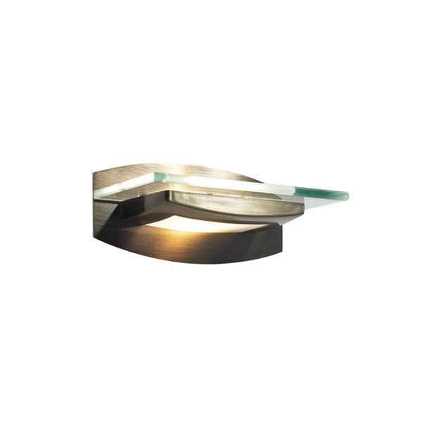 Kirkham  Wall Light Uplighter With Glass Decoration