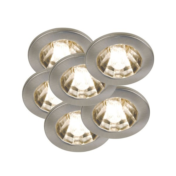 Halo - Star, Set of 6 Simple Downlights Incl Bulbs