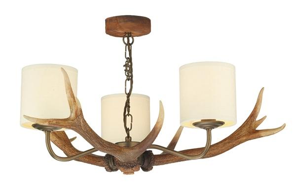 Berney  3 Light Highland Rustic Pendant Light