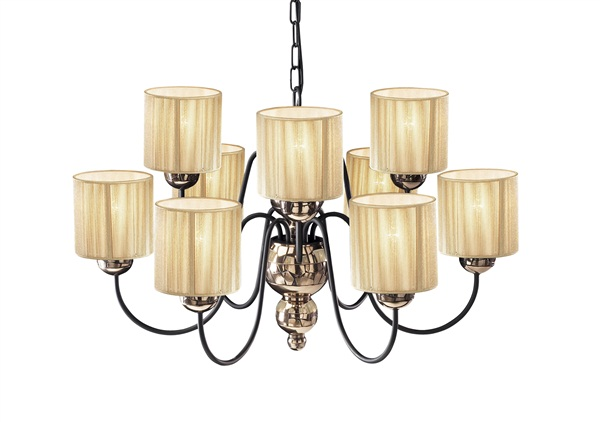 Keiller  Bold 9 Light Curved Arm Chandelier