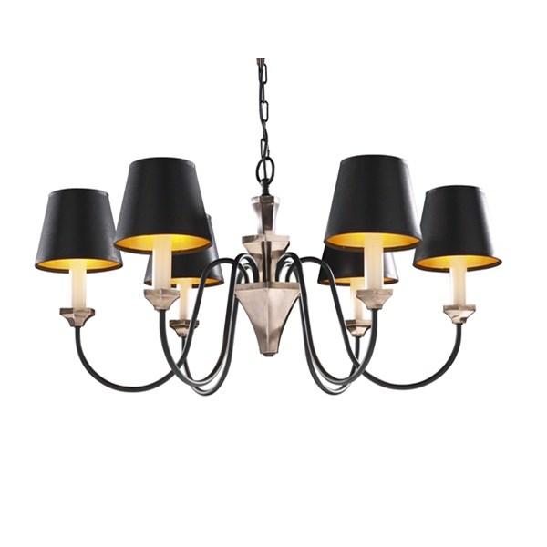 Howden  Elegant 6 Light Chandelier, Bronze / Black Finish