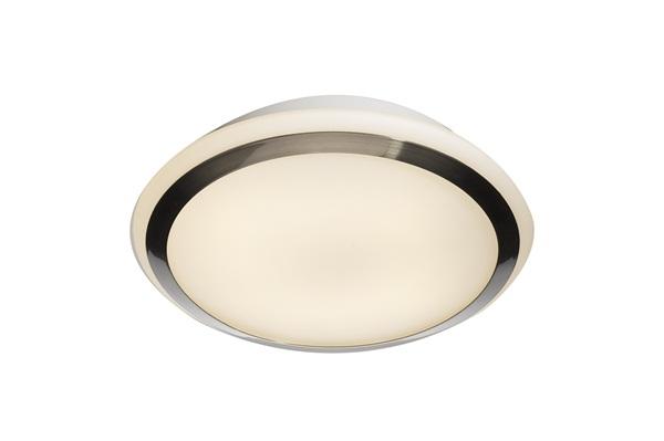 Stylish Bathroom Dome With Metallic Trim, 28W