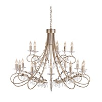 Christina 18-Light Chandelier Silver/Gold
