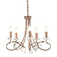 Christina 5-Light Chandelier Silver/Gold