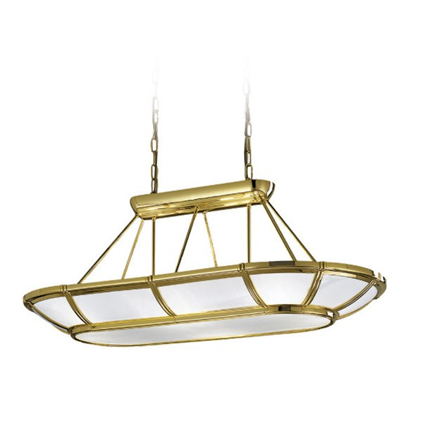 Gold Plated Finish Pendant Light Opal Glass