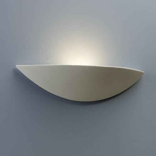Slice Halogen wall uplighter made from white ceramic