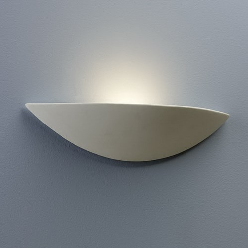 Yoshino  with Halogen wall uplighter made from white ceramic