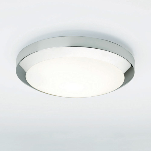 Dakota Plus 300 A modern flush ceiling light with opal glass cover