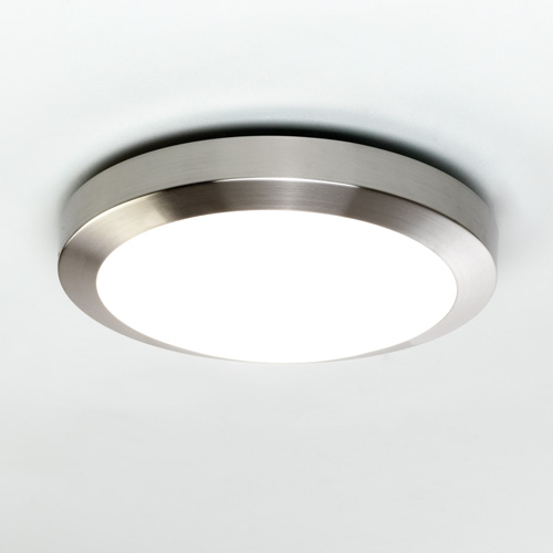 Kyoto  300, A modern flush ceiling light with opal glass cover