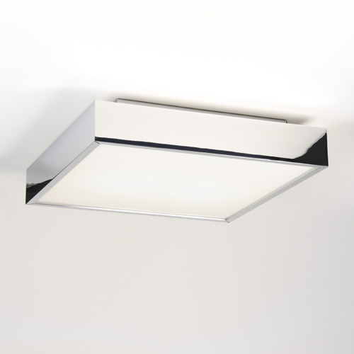 Kiho  Square ceiling light with white glass diffuser
