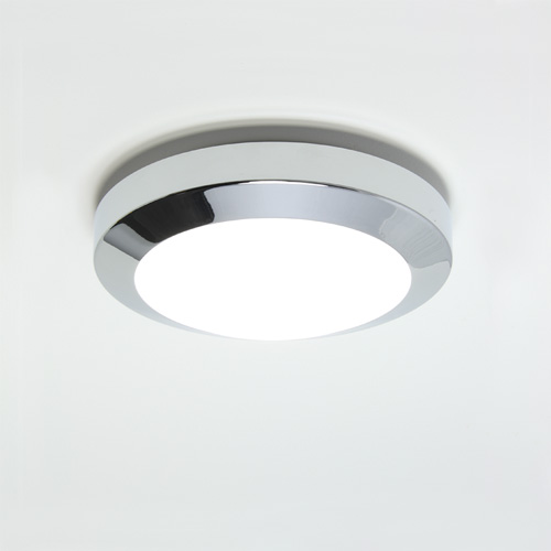Kyoto  180, Modern Flush Ceiling Light with Opal Glass Cover