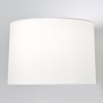 Round Tapered drum shade, White