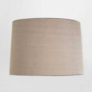 Round Tapered drum shade, Oyster