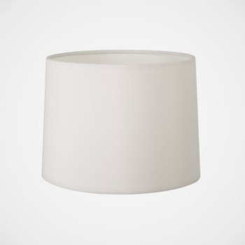Tapered drum fabric shade, white