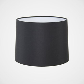 Tapered drum fabric shade, Black