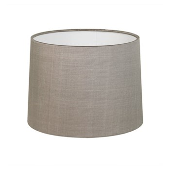 Tapered drum fabric shade, Oyster