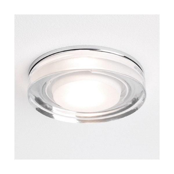 Mori  Square, Glass and Chrome Downlight