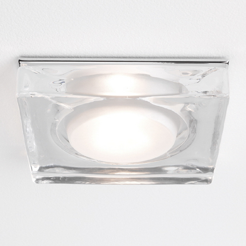 Vancouver Square Glass and Chrome Downlight 12V