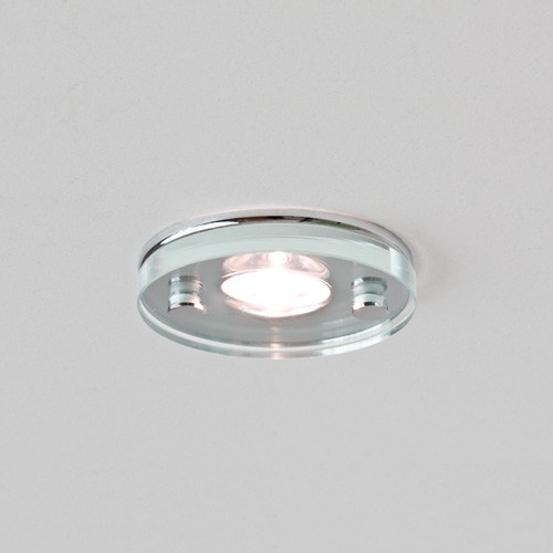 Ice LED Round Glass and Chrome Downlight