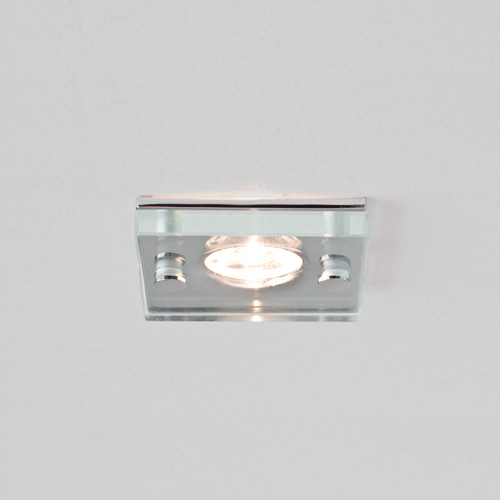 Ice LED Square Glass and Chrome Downlight