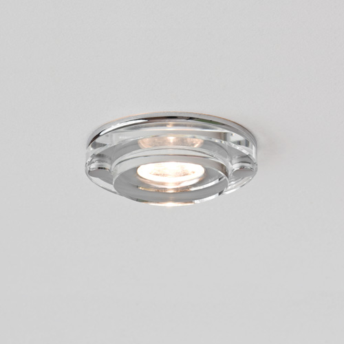 Mint LED round Round Glass and Chrome Downlight