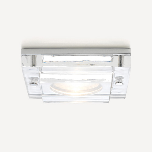 Mint Fire Resistant 12v Square Glass and Chrome Downlight