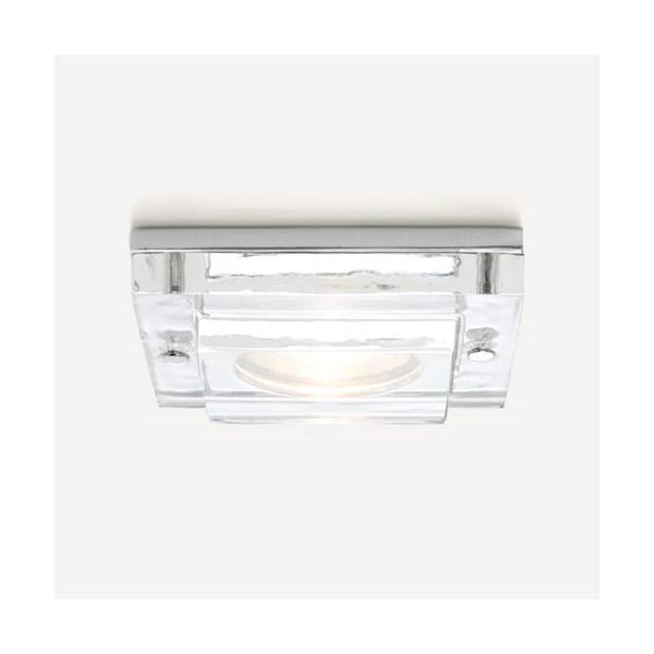 Setana  Fire Resistant 12v, Square Glass and Chrome Downlight