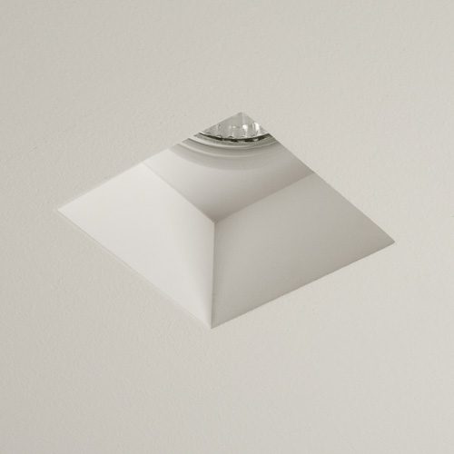 Blanco Square Downlight Plaster Finish White