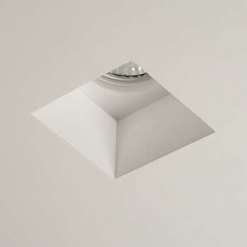 Saru  Square Downlight, Plaster Finish White