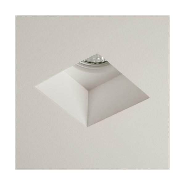 Saru  Square Downlight, Plaster Finish White