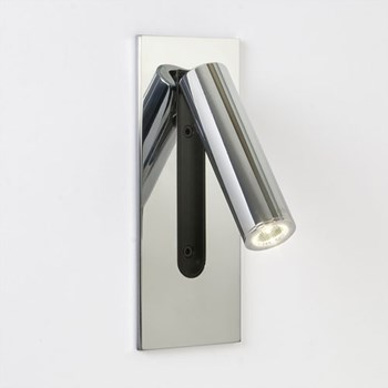 Mu  Unswitched Wall light, Polished Chrome