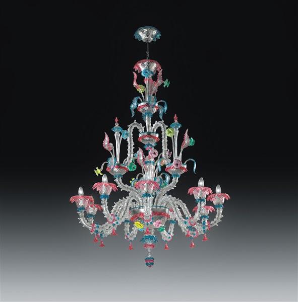 Martucci  9 Light Crystal Chandelier