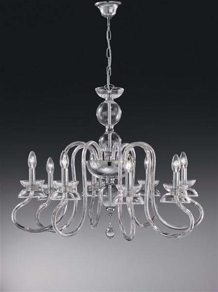 Bertali  8 Light Chandelier