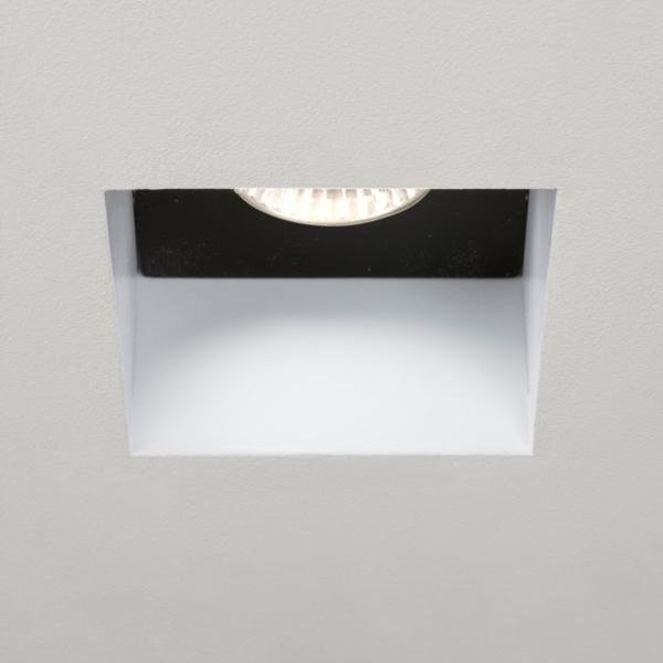 Kasagi  Square, White Halogen Recessed Downlight
