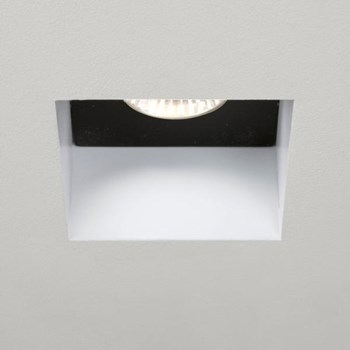 Kasagi  Square, White Halogen Recessed Downlight, Fire Rated
