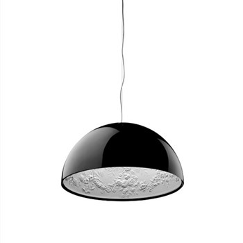 Torino  1 ES, Suspension Pendant Light, Glossy Black