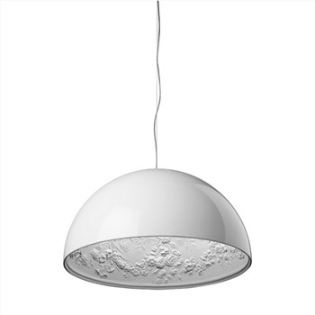 Torino  2 ES, Suspension Pendant Light, Glossy White
