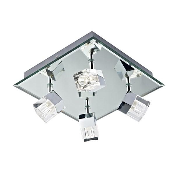 Logic 4 Light Plate Polished Chrome Led IP44