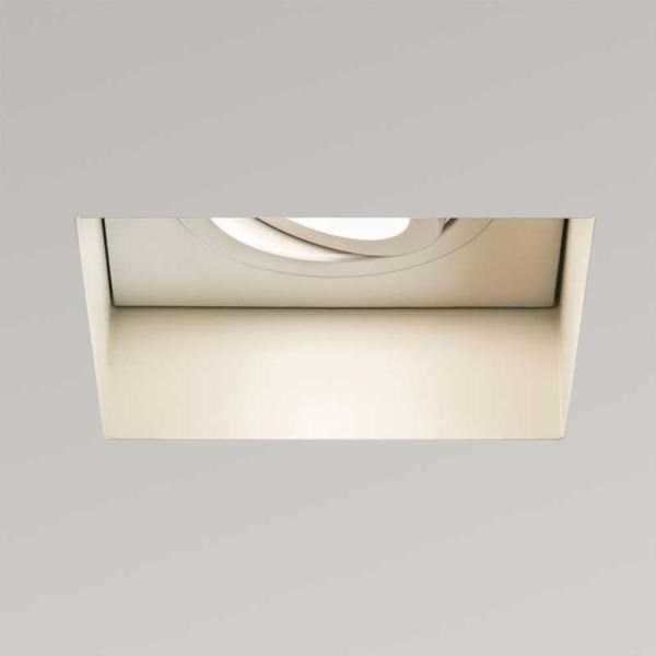 Kasagi  Square, Adjustable Fire Rated, Recessed Downlight, White