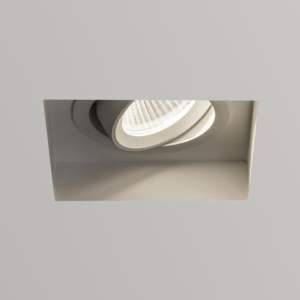 Kasagi  Square LED, Adjustable, Textured Recessed Downlight, White