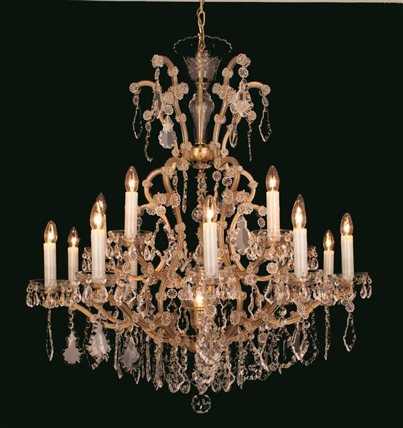 Dee  Chandelier, Crystal 24+1 M.Theresa