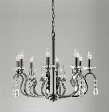 Coledale  8 Light Chandelier with Crystal Leads